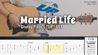 Married Life - Disney Pixars UP OST | Fingerstyle Guitar | TAB + Chords