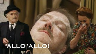 Fooling The Funeral Director By Playing Dead | Allo' Allo'! | BBC Comedy Greats