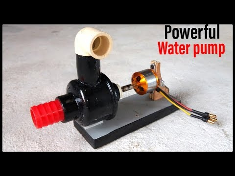 build a powerful water pump ever from 1400kv brushless motor//genius gear