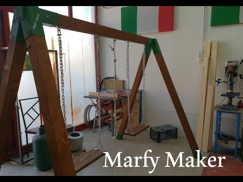 Altalena Legno e Ferro Fai Fa Te Homemade Wood and Iron Swing DIY