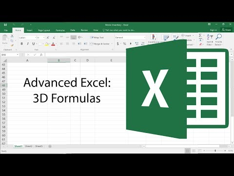 Advanced Excel – 3D Formulas – Advanced Excel Tutorial