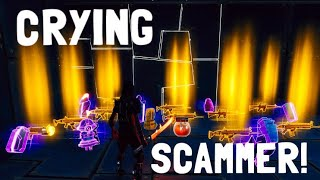 CRYING Scammer gets Scammed In fortnite save the world pve - EazyDrop