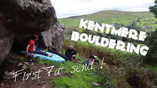 Our first time bouldering in the Lake District - Kentmere Little font and Badgers rock - *First 7a+* by Bouldering Noobs