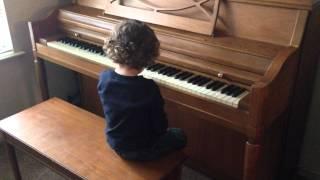 3-річний клавішник - Iron Man