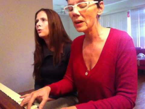 "Mother Daughter singing ""One Candle"" by Tina Lear"
