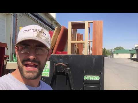 Don't Load Roll-Off Dumpsters Like This!!!!