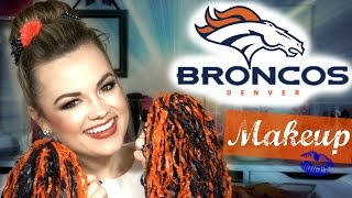 Denver BRONCOS Makeup ♡ Game Day Glamour | Faces by Cait B