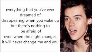 night changes one direction lyrics acoustic karaoke