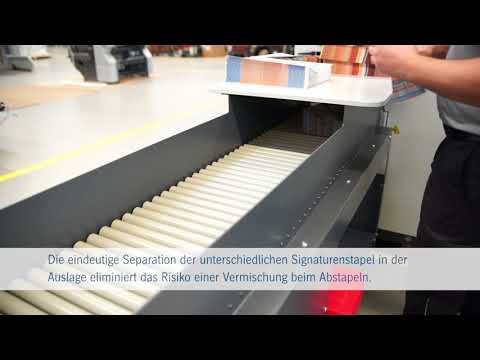 Stahlfolder Push to Stop. Autonome Signaturenproduktion an der TH/KH 82-P.