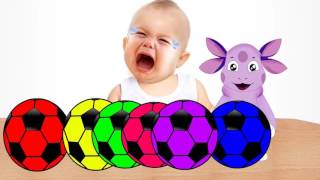 Masha and the Bear Steals Soccer Ball and Learn Colors with Balls for Kids Маша