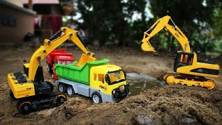 Dump Truck and Excavator Toys for Children