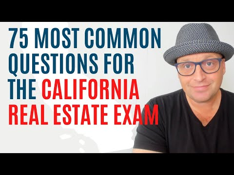 75 California Real Estate Exam Questions (2021) - YouTube