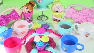 Bộ Đồ Chơi Tiệc Trà Frozen  - Làm Bánh Cup Cake Cho Tiệc Trà Elsa Và Anna / Frozen Dinnerware Set