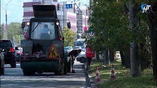 В Великом Новгороде активно ведется ремонт дорог