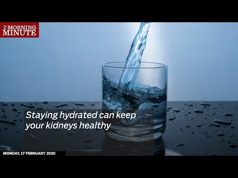 Staying hydrated can keep your kidneys healthy