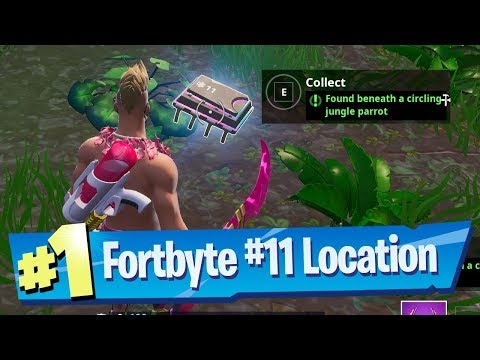 Fortnite Fortbyte #11 Location - Found beneath a circling Jungle Parrot
