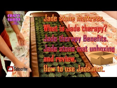 Jade stone mattress. Jade stone mat unboxing and review. What is Jade therapy? How to use Jade mat?