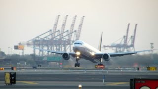NEW SPOTTING PLACE- United Airlines Boeing 767-400ER Takeoff at Newark Liberty International Airport