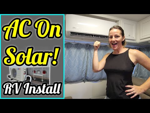 AC ON SOLAR!!! Installing a Mini Split Air Conditioner on our Class C RV