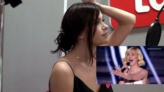 Лена Темникова смотрит Евровидение 2015