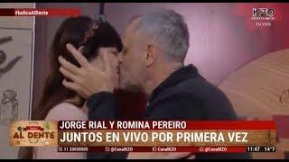 Jorge Rial y Romina Pereiro juntos en vivo por primera vez