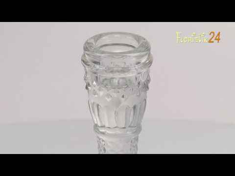 Floristik24 Kerzenhalter aus Glas 17cm