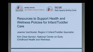 Resources To Support Health And Wellness Policies For Infant/Toddler Care