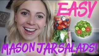EASY MASON JAR MEAL PREP | Tarte Vlogs