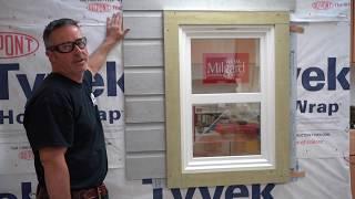 How to install exterior Window Trim and Siding