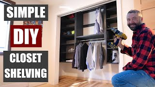 Simple Closet Shelves You Can Build In A Weekend To Get Organized! | Modular Shelves