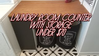 Laundry Room Counter With Storage For Under $70