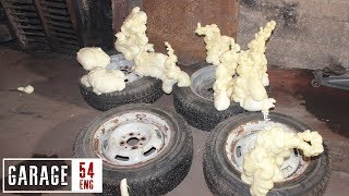 What happens when you fill tires with construction foam