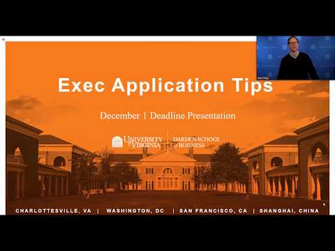 Executive Application Tips