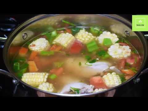 Caldo de Pollo con Verduras Nutritivo y Sabroso