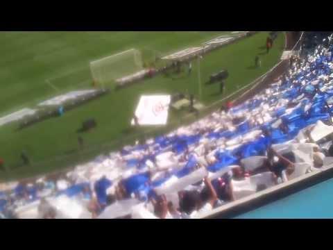 """Recibimiento a Cruz Azul. Jornada 14 vs xolos (5-0)"" Barra: La Sangre Azul • Club: Cruz Azul"