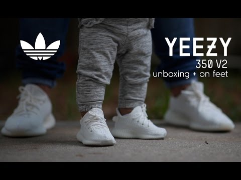 Adidas Yeezy Boost 350 V2 Infant 'Cream' Unboxing - On Feet