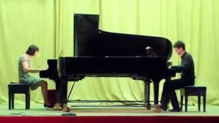 "Ravel. ""La valse"" for two pianos"