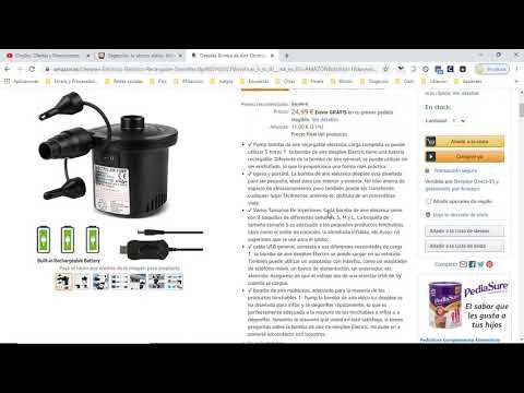 ⚙ ¡Oferta Amazon! Deeplee Bomba de Aire Eléctrica barata 25€ ¡31% DTO! Opiniones | Descuentos ⚙