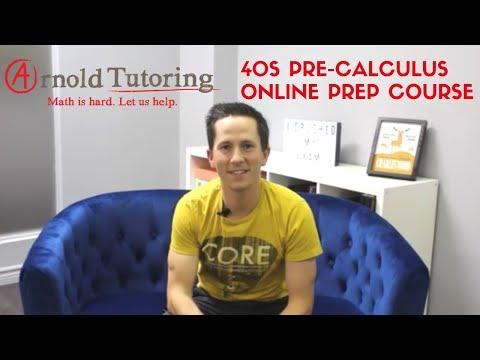 40S Pre-Calculus Online Prep Course - YouTube