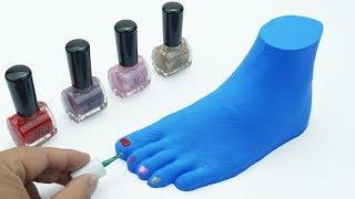DIY How to make Foot Rainbow Mad Matter | Learn Colors Kinetic Sand For Kids | La La #8