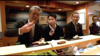 Anthony Bourdain's visit to Sukiyabashi Jiro