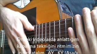 Kolay Gitar Dersleri - 2/4 Lük Ritim Çalınışı Ve Kapatma Tekniği