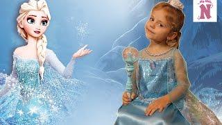 Костюм Принцессы Эльзы из мультфильма FROZEN Холодное сердце Платье с аксессуарами Disney Frozen
