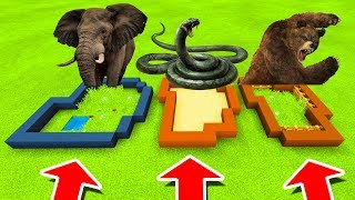 Minecraft: DO NOT CHOOSE THE WRONG FARM! (Elephant, Snakes & Grizzly Bear)