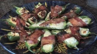 Recipe for Bacon-Wrapped, Cream Cheese-Stuffed Jalapeno Peppers : Delicious Dishes