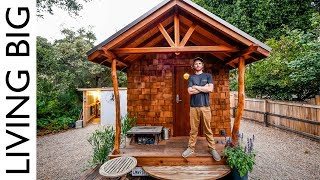 Off-Grid Artisan Tiny House Built To Escape Wildfires