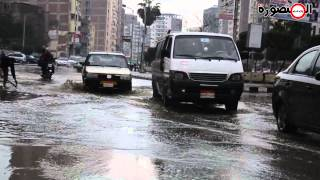 preview picture of video 'شوارع المنصورة تغرق بمياه الأمطار'