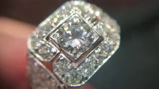Gambar cover Art Deco diamond ring in platinum, from about 1940