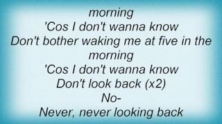 A - Five In The Morning Lyrics