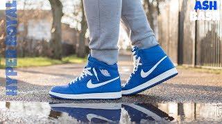 Review + On Feet Jordan 1  hyper Royal  Half Price!! Ash Bash 1451ed0b1